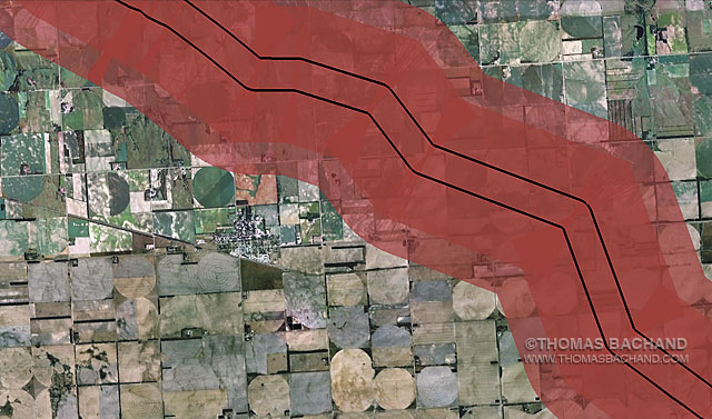 Voluntary Evacuation Zone. Orchard Nebraska. From the Keystone Mapping Project.
