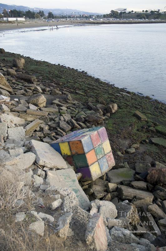 Rubics Cube Ashore. Albany, California.