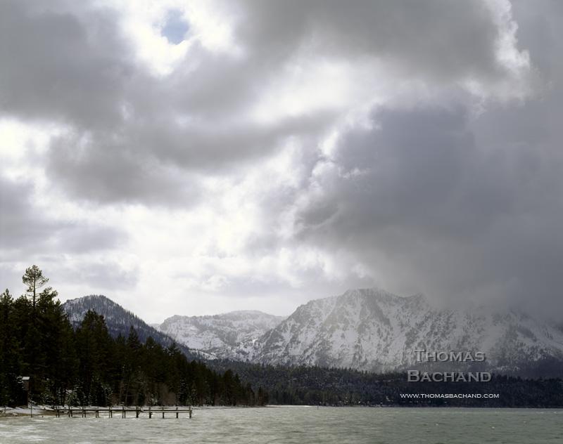 Storm on Mt. Tallac. Lake Tahoe, California.