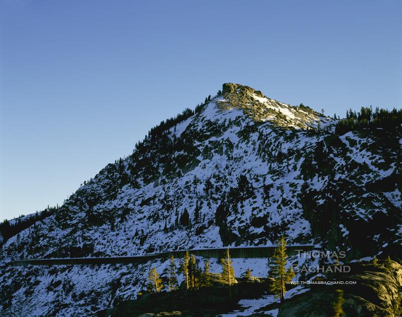 Railroad sheds. Donner Summitt. California.