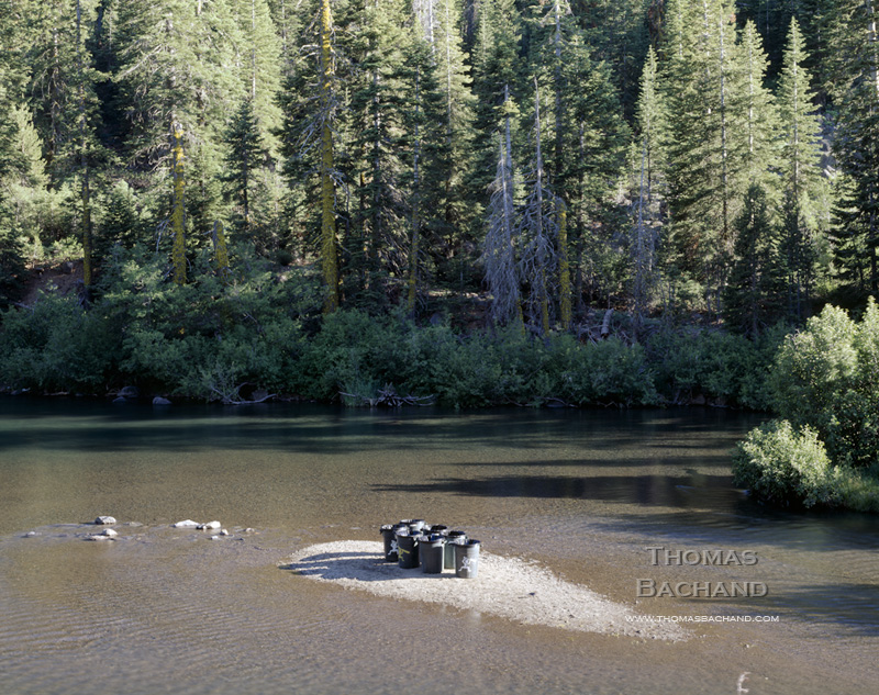 Trash Cans on Truckee River