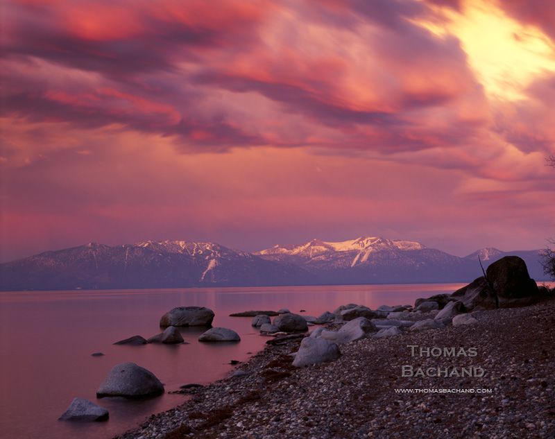Stormy Sunset. Sugar Pine Point State Park. Lake Tahoe.