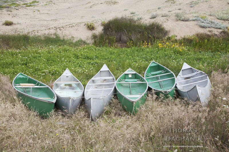 Canoes. Point Reyes National Seashore.