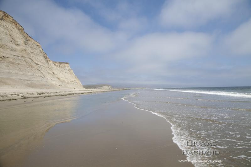 Cliffs. Drakes Beach. Point Reyes National Seashore. California.
