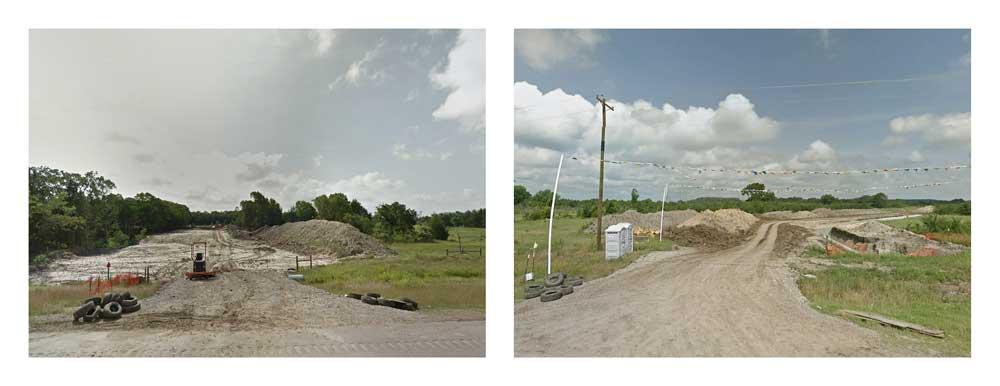 Crossings. Keystone XL construction on State Highway 48. Oklahoma.