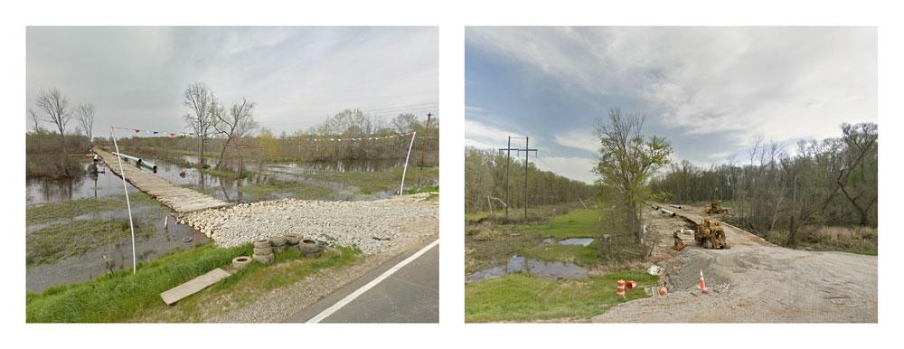 Crossings. Keystone XL construction on US 84. Texas.