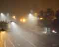 Night intersection in fog. Urban review print photographer.