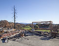 Fountaingrove Golf and Athletic Club. St. Andrews Dr. Tubbs Fire aftermath. Santa Rosa, California.