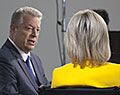 Vice President Al Gore and Andrea Mitchell of NBC. Global Climate Action Summit 2018. San Francisco, California.